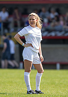 Miss Great Britain 2015/16 Zara Holland during the 'Greatest Show on Turf' Celebrity Event - Once in a Blue Moon Events at the London Borough of Barking and Dagenham Stadium, London, England on 8 May 2016. Photo by Andy Rowland.
