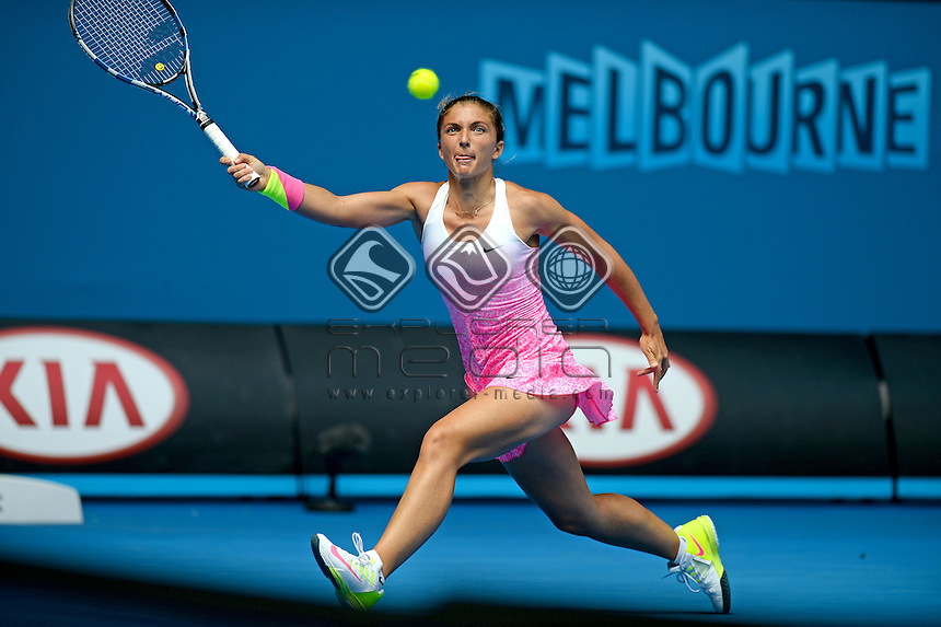 Sara Errani (ITA) during her 3rd round match<br /> 2015 Australian Open Tennis / Day 5<br /> Grand Slam of Asia Pacific<br /> Melbourne Park, Vic Australia<br /> Friday 23 January 2015<br /> &copy; Sport the library / Jeff Crow