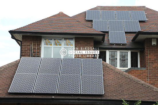 Solar panels on detached house