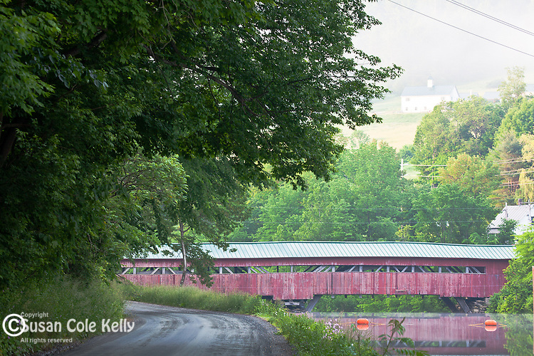 The Hartland covered bridge in Hartland, VT, USA