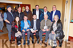 Minister Brendan Griffin launching the book To Queensland with Love in the Crown Hotel on Friday Helen O'Connor, Johnny Roche, Minister Griffin, Tomo Burke, Breda Brookes Back row: John Reidy, Denis Sayers, Michael John Kearney, Cllr Fionn Fitzgerald, Colm Kirwin and Cllr Bobby O'Connell