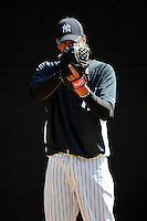 Feb 23, 2010; Tampa, FL, USA; New York Yankees  pitcher Hector Noesi (74) during  team workout at George M. Steinbrenner Field. Mandatory Credit: Tomasso De Rosa