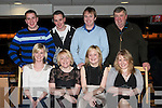 NIGHT AT THE DOGS: John (Jnr) Keane, Listowel enjoying a great time celebrating his 30th birthday with a family and friends at the Kingdom Greyhound Stadium on Saturday seated l-r: Vicky Shanahan, Mary Canavan, Nuala Keane and Tina Twomey. Back l-r: Francis Keane, Martin Keane, John (Jnr) Keane and John (Snr) Keane.