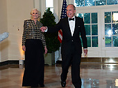 Director of the National Economic Council Larry Kudlow and Judith Kudlow arrive for the State Dinner hosted by United States President Donald J. Trump and First lady Melania Trump in honor of Prime Minister Scott Morrison of Australia and his wife, Jenny Morrison, at the White House in Washington, DC on Friday, September 20, 2019.<br /> Credit: Ron Sachs / Pool via CNP
