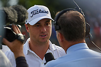 Justin Thomas (USA) is interviewed after winning the 2019 BMW Championship, Medinah Golf Club, Chicago, Illinois, USA. 8/18/2019.<br /> Picture Ken Murray / Golffile.ie<br /> <br /> All photo usage must carry mandatory copyright credit (© Golffile | Ken Murray)