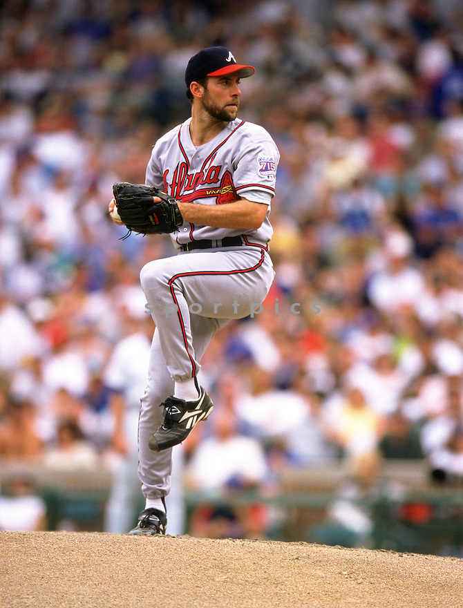 Atlanta Braves John Smoltz (29) during a game from his  1999 season with the Atlanta Braves.. John Smoltz played for 21 years with 3 different teams, was a 8-time All-Star and was inducted to the Baseball Hall of Fame in 2015.