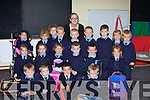 TEACHER: Fiona Horan Teacher with her Junior Infant on their first day at Ardfert National School, they were: John Joe Davis,Anna Fitzgerald,Katie Hussey,James Baxter,Gavin Raggett,Jack Kennedy,Michael Kearney,Jack Kearney,Brid Courtney,Matthew Geary-Hodge, Avril Barrett, Hannah Fitzgerald, Jamie Benner, Odhran Pierce,Earnan Ferris,Christopher Lawlor,Dylan Harris,Christopher Nolan,Fiona Sheehan and Danny Jeffers.