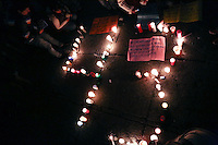Protesters calling themselves &quot;anarchists groups&quot; broke the peaceful march was held near the National Palace in Mexico City. <br /> In support of the 43 student teachers who presumably were killed and incinerated in the state of Guerrero, 11/8/2014 VIEWpress / Miguel Angel Pantaleon