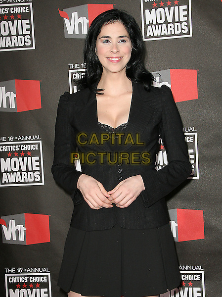 SARAH SILVERMAN .at The16th Annual Critics' Choice Movie Awards held at The Hollywood Palladium in Hollywood, California, USA, January 14th, 2011..half length black dress skirt jacket blazer lace  .CAP/RKE/DVS.©DVS/RockinExposures/Capital Pictures.