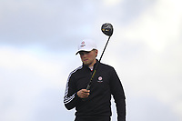 Joe Long from England on the 5th tee during Round 3 Singles of the Men's Home Internationals 2018 at Conwy Golf Club, Conwy, Wales on Friday 14th September 2018.<br /> Picture: Thos Caffrey / Golffile<br /> <br /> All photo usage must carry mandatory copyright credit (&copy; Golffile | Thos Caffrey)