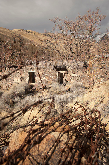 Stone ruins of the old brewery, Unionville, Nevada