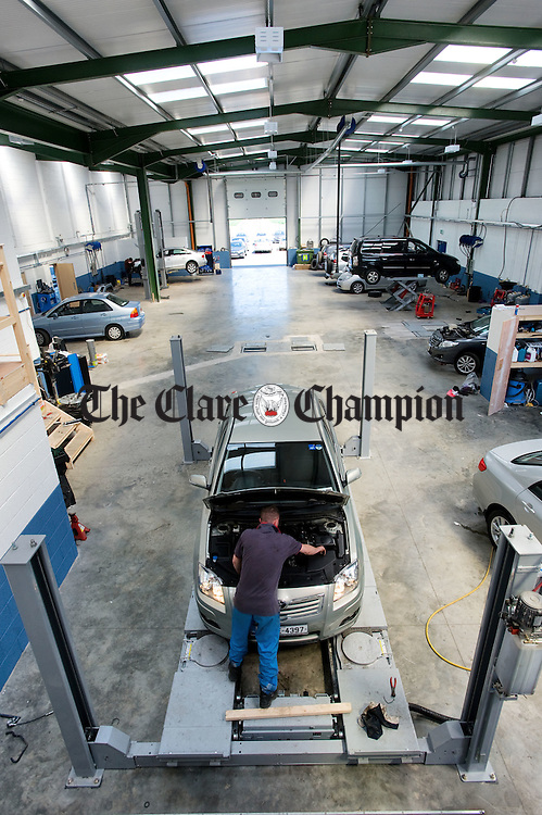 The workshop area at Cummins Car Centre, Ballymaley, Ennis. Photograph by John Kelly.