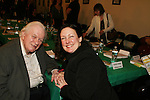 """Actor Charles Durning and daughter Michele performed at the table: A Special Talent Reading of the new novel """"The Great Heist"""" by author and filmmaker Kenneth Del Vecchio on November 3, 2008 at the Williams Center, Rutherford, New Jersey. The event is presented by Justice For All Productiona and the Hoboken International Film Mestival and osted by Bergen County Film Commission.   (Photo by Sue Coflin/Max Photos)"""