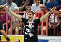 Handball 1. Bundesliga  2012/2013  in der Paul Horn Arena Tuebingen TV Neuhausen - Fuechse Berlin Trainer Markus Gaugisch (TV Neuhausen)
