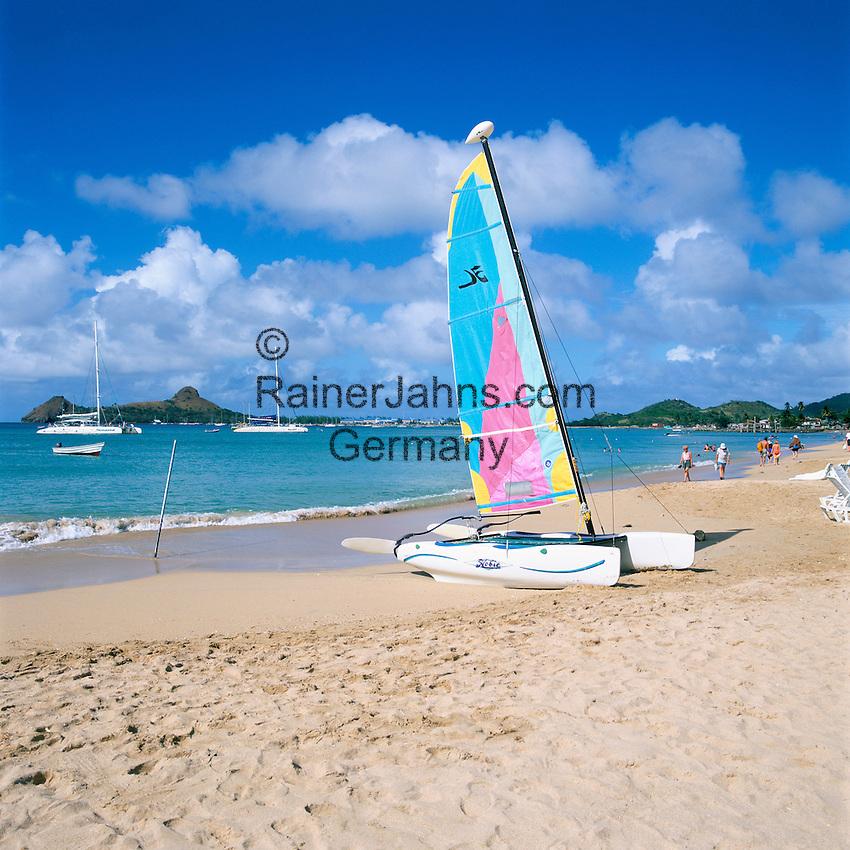 Caribbean, Lesser Antilles, Saint Lucia, Reduit Beach   Karibik, Kleine Antillen, Saint Lucia, Reduit Beach