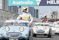 March 20, 2016: Felipe Nasr (BRA) #12 from the Sauber F1 Team at the drivers' parade prior to the 2016 Australian Formula One Grand Prix at Albert Park, Melbourne, Australia. Photo Sydney Low