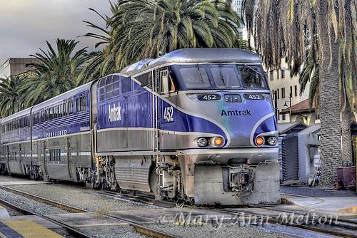 Amtrack train at San Diego