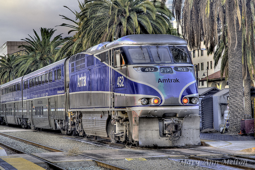 Amtrack train at San Diego