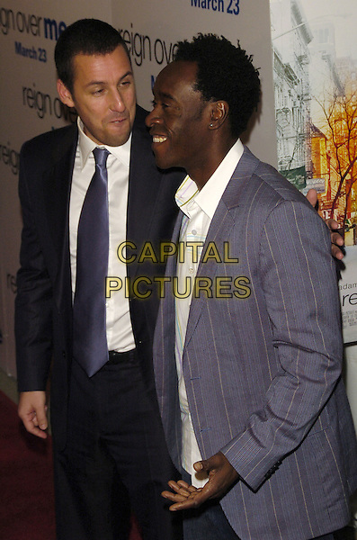 """ADAM SANDLER & DON CHEADLE.Premiere of Sony Pictures """"Reign Over Me"""" Skirball Center at NYU, 566 La Guardia Place, New York, New York, USA..March 20th, 2007.half length black blue suit jacket profile .CAP/ADM/BL.©Bill Lyons/AdMedia/Capital Pictures *** Local Caption ***"""