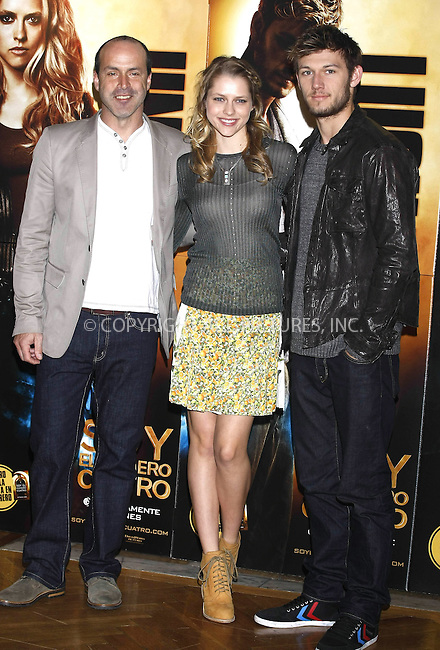 WWW.ACEPIXS.COM . . . . .  ..... . . . . US SALES ONLY . . . . .....March 16 2011, Madrid....Director D. J. Caruso (L), actress Teresa Palmer (C) and actor Alex Pettyfer (R) at a photocall for I Am Number Four at the Santo Mauro Hotel on March 16, 2011 in Madrid, Spain....Please byline: FAMOUS-ACE PICTURES... . . . .  ....Ace Pictures, Inc:  ..Tel: (212) 243-8787..e-mail: info@acepixs.com..web: http://www.acepixs.com