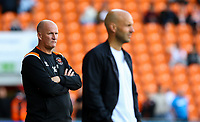 Blackpool manager Simon Grayson watches on in the closing stages<br /> <br /> Photographer Alex Dodd/CameraSport<br /> <br /> The EFL Sky Bet League One - Blackpool v MK Dons  - Saturday September 14th 2019 - Bloomfield Road - Blackpool<br /> <br /> World Copyright © 2019 CameraSport. All rights reserved. 43 Linden Ave. Countesthorpe. Leicester. England. LE8 5PG - Tel: +44 (0) 116 277 4147 - admin@camerasport.com - www.camerasport.com