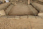 Israel, remains of the 1st century Sinagogue at Magdala Center by the Sea of Galilee