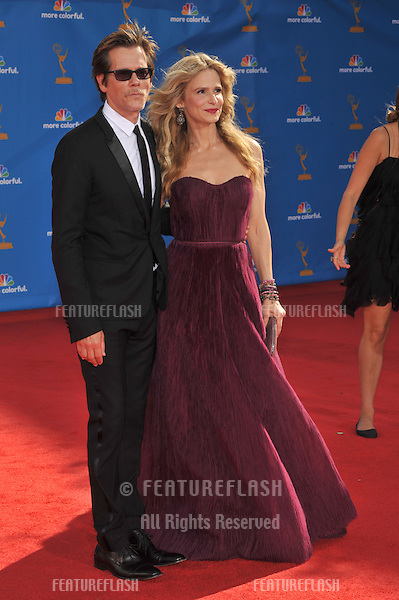 Kyra Sedgwick & Kevin Bacon at the 2010 Primetime Emmy Awards at the Nokia Theatre L.A. Live in downtown Los Angeles..August 29, 2010  Los Angeles, CA.Picture: Paul Smith / Featureflash
