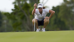 SINGAPORE - MARCH 05:  Helen Alfredsson of Sweden on the par five 5th hole during the first round of HSBC Women's Champions at the Tanah Merah Country Club on March 5, 2009 in Singapore. Photo by Victor Fraile / The Power of Sport Images