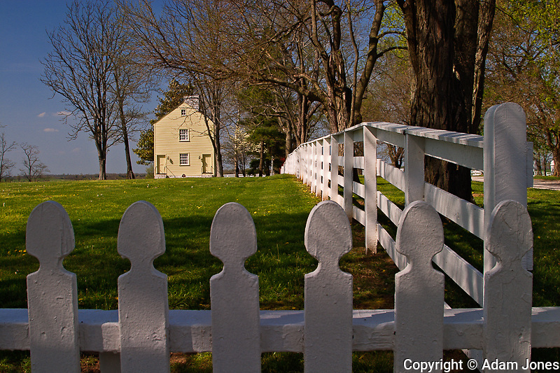 Distinctive fence of Shaker Village of Pleasant Hill, Kentucky