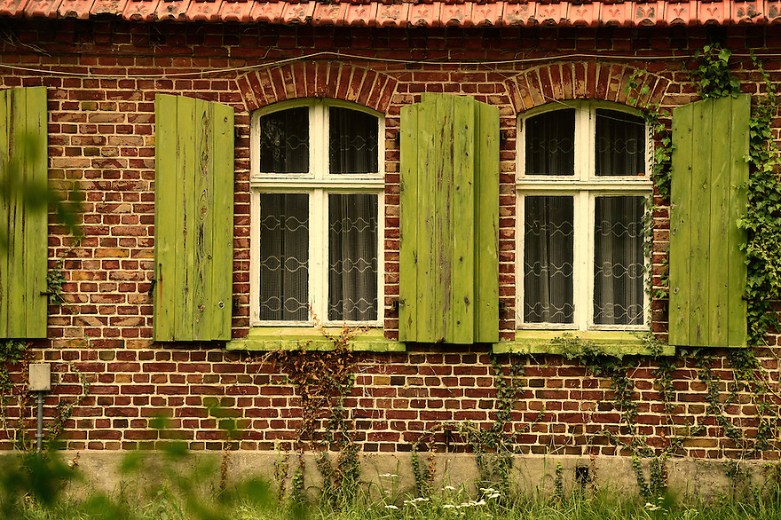 Deserted houses, Ahlbeck, Germany