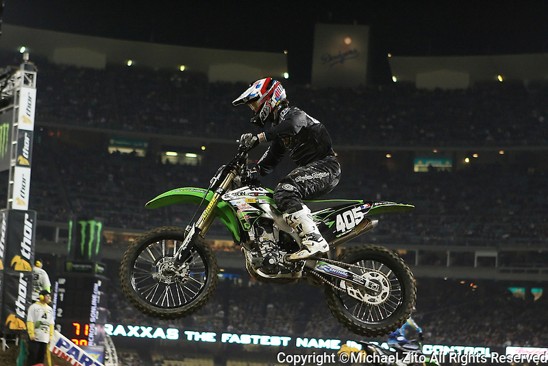 01/22/11 Los Angeles, CA: Daniel Blair  during the 1st ever AMA Supercross held at Dodger Stadium.