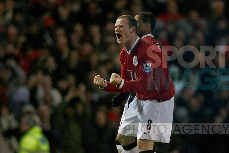 Manchester United's Wayne Rooney celebrates his second goal