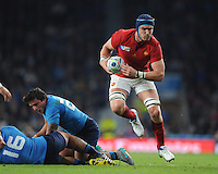 Bernard le Roux of France in action during Match 5 of the Rugby World Cup 2015 between France and Italy - 19/09/2015 - Twickenham Stadium, London <br /> Mandatory Credit: Rob Munro/Stewart Communications