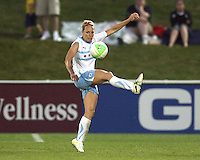 Whitney Engen #9 of the Chicago Red Stars during a WPS match against the Washington Freedom at the Maryland Soccerplex, in Boyds Maryland on June 12 2010.The game ended in a 2-2 tie.