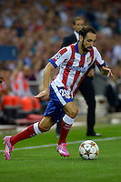 MADRID - ESPAÑA - 01-10-2014: Juan Fran, jugador de Atletico de Madrid de España, durante partido del la UEFA Liga de Campeones, Atletico de Madrid  y Juventus en el estadio Vicente Calderon de la ciudad de Madrid, España. / Juan Fran, player of Atletico de Madrid of España, during a match between Atletico de Madrid  and Juventus for the UEFA Champions League in the Vicente Calderon stadium in Madrid, Spain  Photo: Asnerp / Patricio Realpe / VizzorImage.
