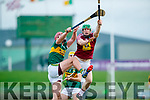 Fionán MacKessy Kerry in action against John Gilligan Westmeath in the Allianz Hurling League 2A at Austin Stack Park on Sunday.