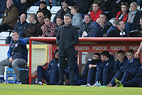 Bury Manager Ryan Lowe during Stevenage vs Bury, Sky Bet EFL League 2 Football at the Lamex Stadium on 9th March 2019