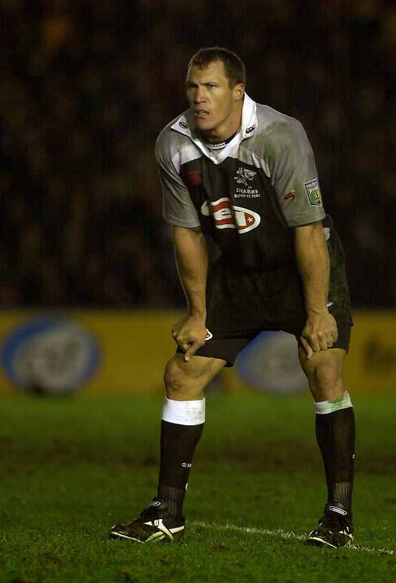 Photo. Richard Lane. .Harlequins v Natal Sharks. 5-2-2002..Andre Snyman..