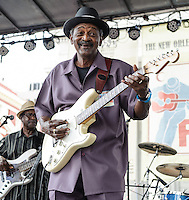 L'il Buck Sinegal at the 2012 Blues and BBQ Festival in New Orleans, LA.