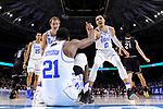 GREENVILLE, SC - MARCH 19: Jayson Tatum (0) of Duke University helps up teammate Amile Jefferson (21) during the 2017 NCAA Men's Basketball Tournament held at Bon Secours Wellness Arena on March 19, 2017 in Greenville, South Carolina. (Photo by Grant Halverson/NCAA Photos via Getty Images)