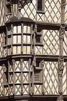 Europe/France/Pays de la Loire/49/Maine-et-Loire/Angers: la maison d'Adam fin XV detail demeure à pans de bois