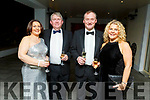 Julie and Michael Quirke (Ballymac), Noel and Mary Stack (Moyvane) attending the Enable Ireland Diamond Ball in the Ballygarry House Hotel on Saturday.