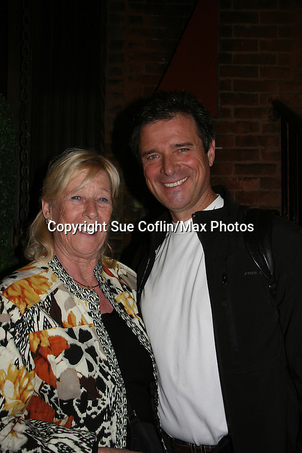 James DePaiva poses with his mom Rosemarie as he stars in Under Fire, the musical - a part of the New York Musical Theatre Festival on October 4, 2009 at The Theatre of St. Clements, New York City, New York. (Photo by Sue Coflin/Max Photos)