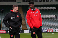 Fleetwood Town players inspect the pitch before the match <br /> <br /> Photographer Andrew Kearns/CameraSport<br /> <br /> The EFL Sky Bet League One - Plymouth Argyle v Fleetwood Town - Saturday 7th October 2017 - Home Park - Plymouth<br /> <br /> World Copyright &copy; 2017 CameraSport. All rights reserved. 43 Linden Ave. Countesthorpe. Leicester. England. LE8 5PG - Tel: +44 (0) 116 277 4147 - admin@camerasport.com - www.camerasport.com