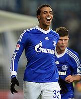 FUSSBALL   1. BUNDESLIGA   SAISON 2012/2013    23. SPIELTAG FC Schalke 04 - Fortuna Duesseldorf                        23.02.2013 Jubel nach dem 1:0: Joel Matip (FC Schalke 04)