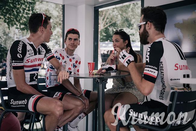 Polka Dot Jersey / KOM leader Warren Barguil (FRA/Sunweb) at the start <br /> <br /> 104th Tour de France 2017<br /> Stage 14 - Blagnac › Rodez (181km)