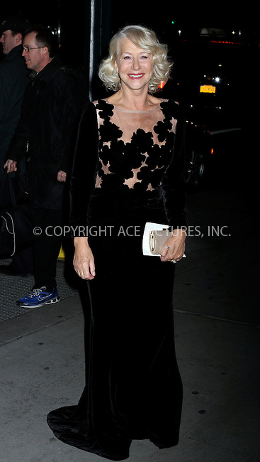 WWW.ACEPIXS.COM . . . . .  ....January 10 2012, New York City....Actress Helen Mirren arriving at the 2011 National Board of Review Awards gala at Cipriani 42nd Street on January 10, 2012 in New York City.....Please byline: NANCY RIVERA- ACE PICTURES.... *** ***..Ace Pictures, Inc:  ..tel: (212) 243 8787 or (646) 769 0430..e-mail: info@acepixs.com..web: http://www.acepixs.com