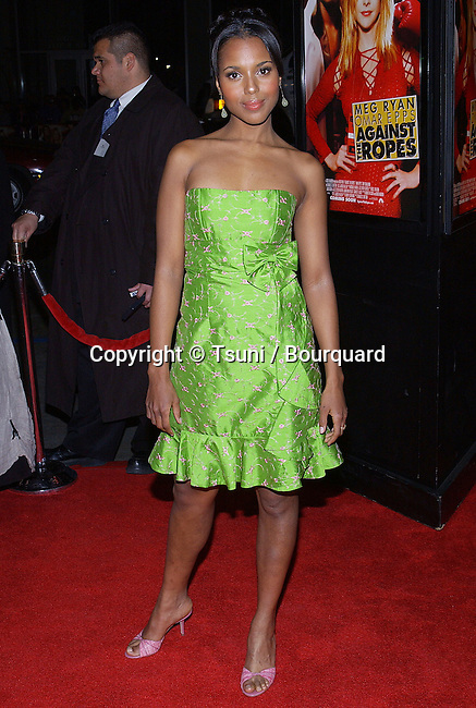 "Kerry Washington arriving at the premiere of ""Against The Ropes "" at the Chinese Theatre in Los Angeles. February 11, 2004."