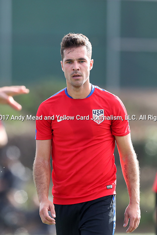 11 January 2017: Benny Feilhaber. The United States Men's National Team held their first training session under new head coach Bruce Arena on The Murphy Family Field at the StubHub Center in Carson, California.