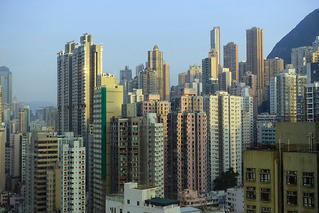 Hong Kong high rise apartments in Western district